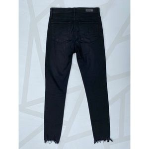 Ag Adriano Goldschmied Jeans - AG Farrah High Rise Skinny Ankle Fray Jeans Black